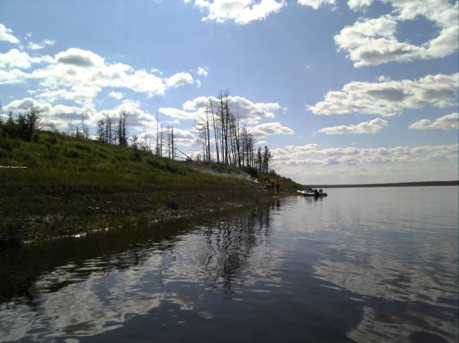 напротив посёлка Усть-Миль